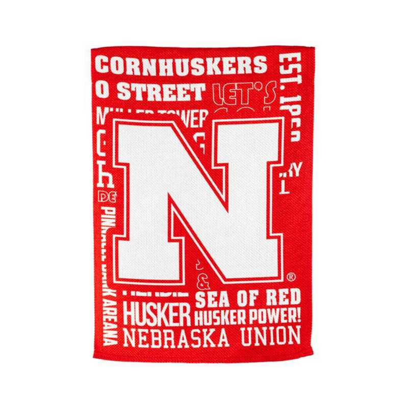 13ES949FR: EG Nebraska Fan Rules Flag