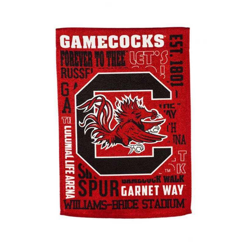 13ES954FR: EG South Carolina Fan Rules Flag