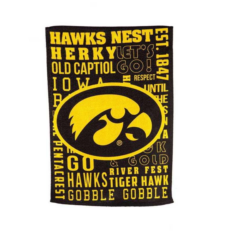 13ES980FR: EG Iowa Fan Rules Flag