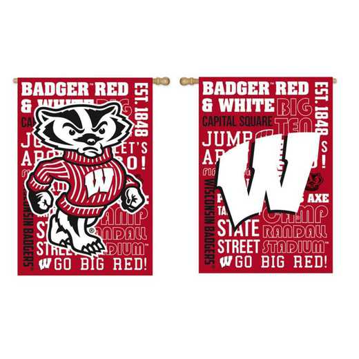 13ES984FR: EG Wisconsin Fan Rules Flag