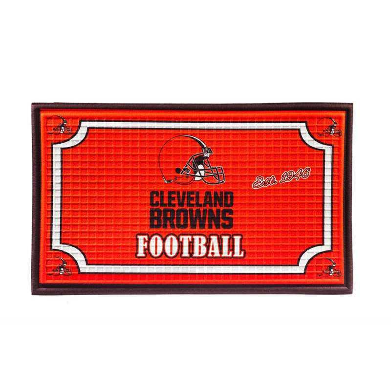 41EM3807: EG Embossed Door Mat, Cleveland Browns