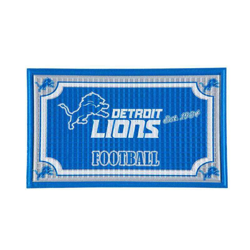 41EM3810B: EG Embossed Door Mat-Detroit Lions