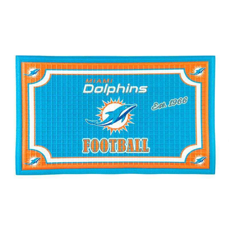 41EM3816: EG Embossed Door Mat, Miami Dolphins