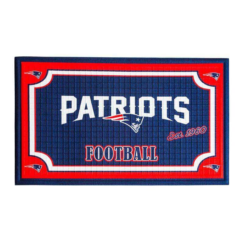 41EM3818B: EG Embossed Door Mat-New England Patriots