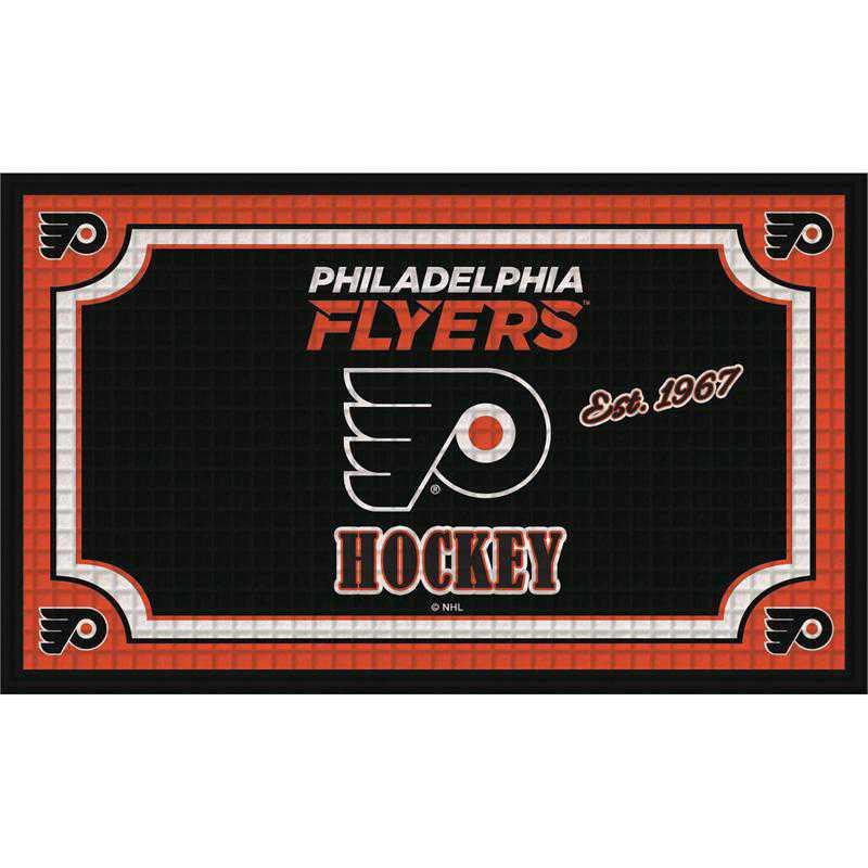 41EM4370B: EG Embossed Door Mat, Philadelphia Flyers