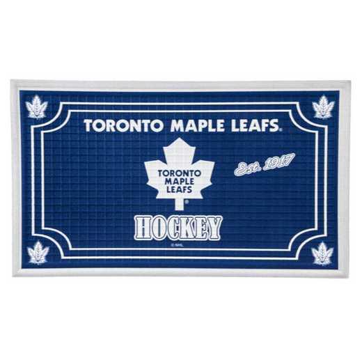 41EM4376: EG Embossed Door Mat, Toronto Maple Leafs