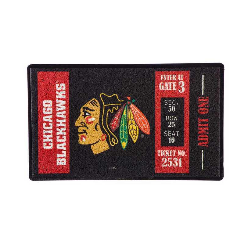 41LM4355: EG Turf Mat, Chicago Blackhawks