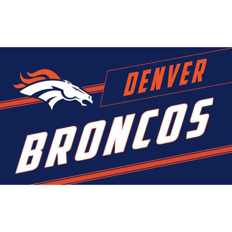 2RMP3809: EG Denver Broncos, Coir Punch Mat
