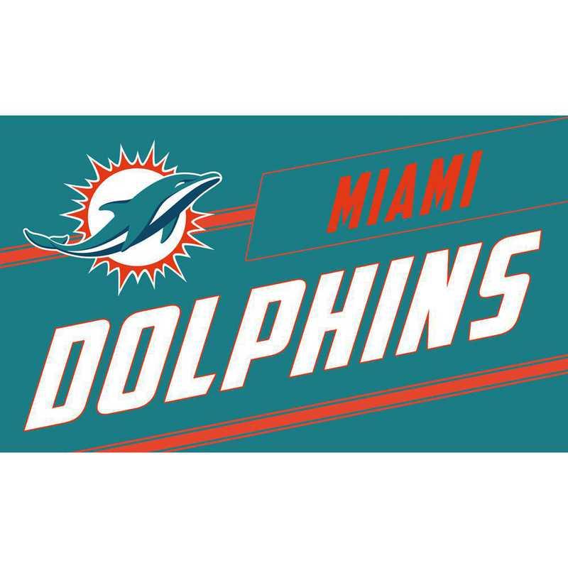 2RMP3816: EG Miami Dolphins, Coir Punch Mat