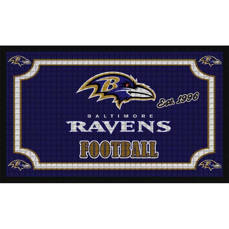 41EM3802: EG Embossed Door Mat-Baltimore Ravens