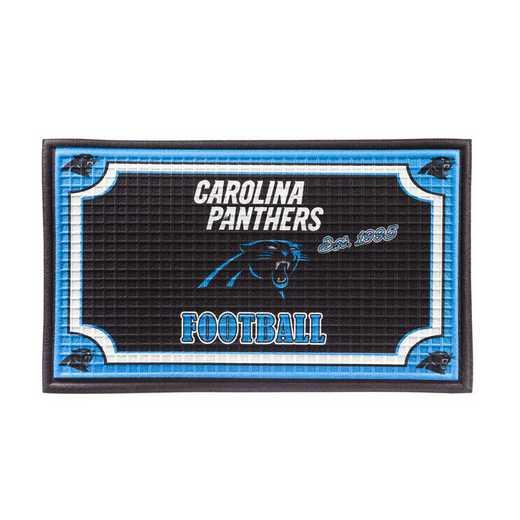 41EM3804: EG Embossed Door Mat-Carolina Panthers