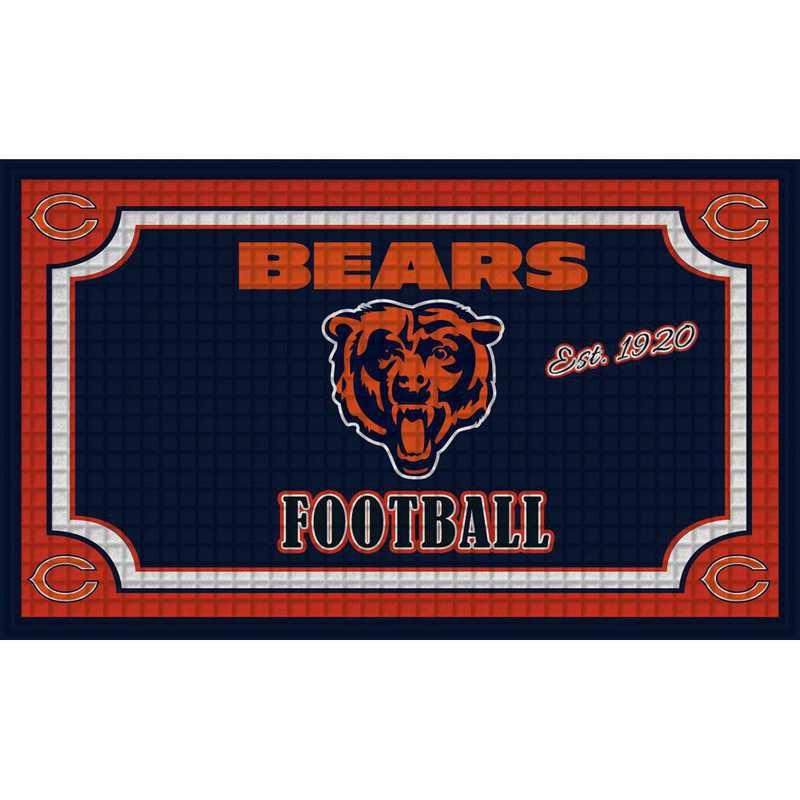 41EM3805: EG Embossed Door Mat-Chicago Bears