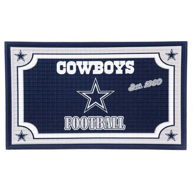 41EM3808: EG Embossed Door Mat-Dallas Cowboys
