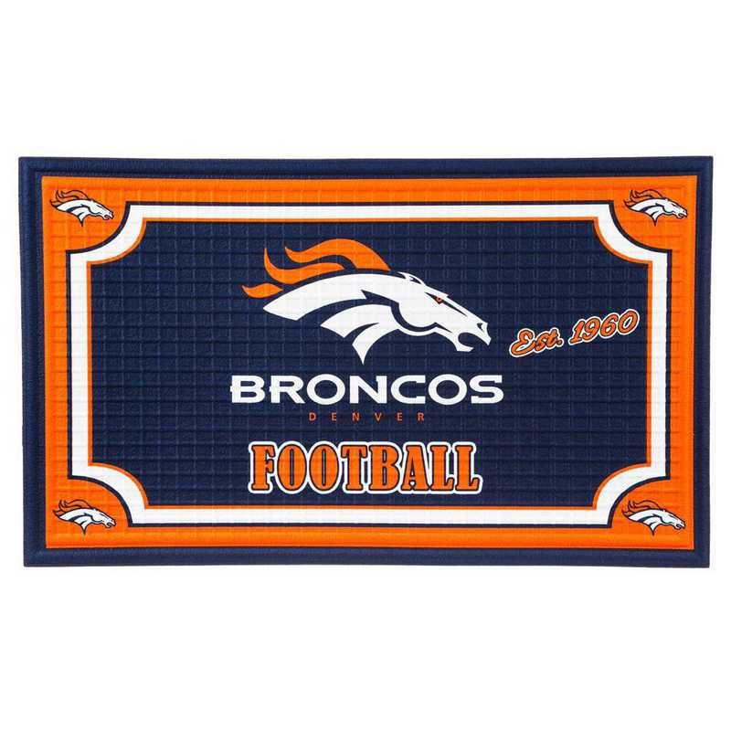 41EM3809: EG Embossed Door Mat-Denver Broncos