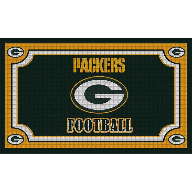 41EM3811: EG Embossed Door Mat-Green Bay Packers