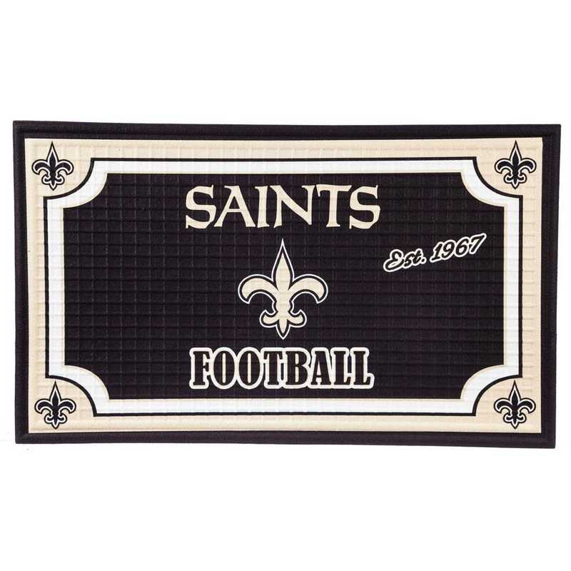 41EM3819: EG Embossed Door Mat-New Orleans Saints