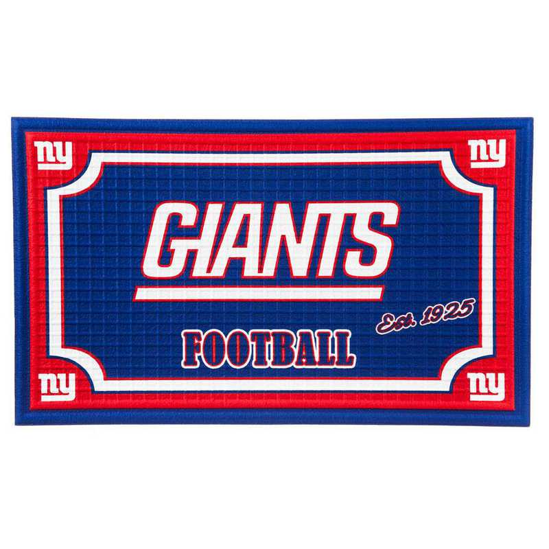 41EM3820: EG Embossed Door Mat-New York Giants