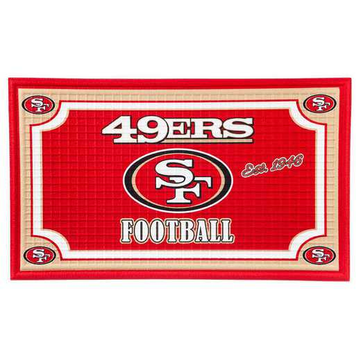 41EM3826: EG Embossed Door Mat-San Francisco 49ers