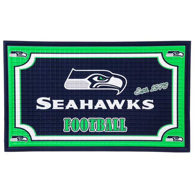 41EM3827: EG Embossed Door Mat-Seattle Seahawks