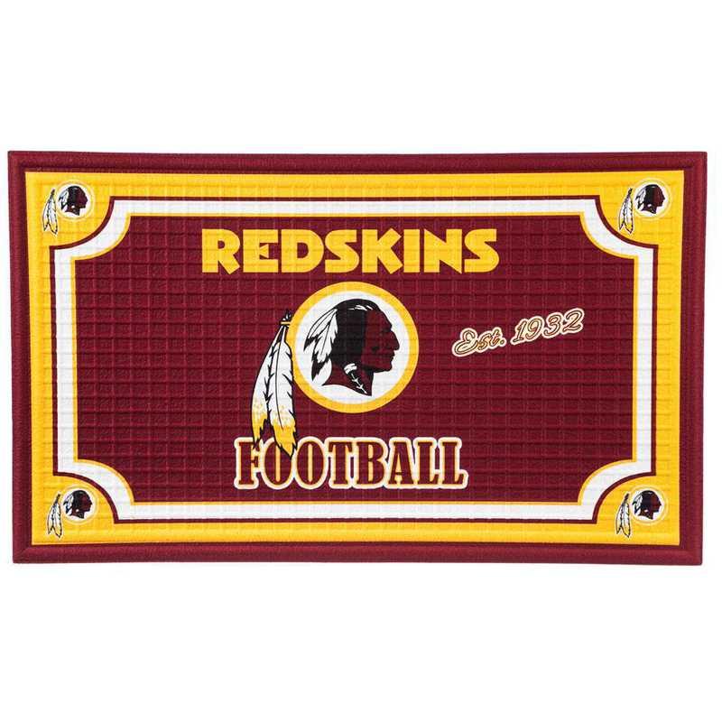 41EM3831: EG Embossed Door Mat-Washington Redskins