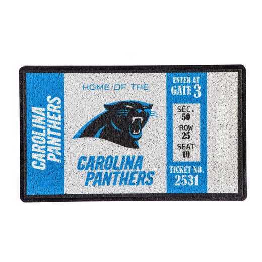 41LM3804: EG Turf Mat, Carolina Panthers