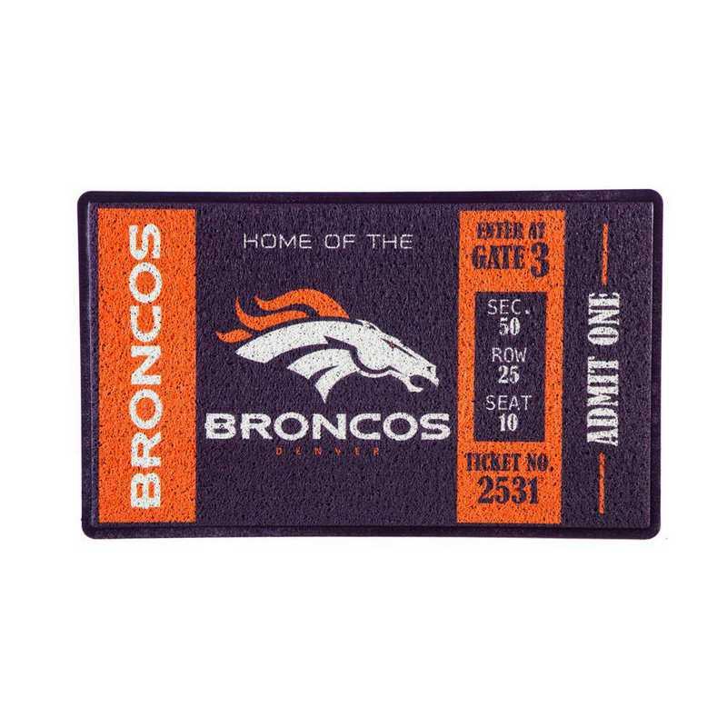 41LM3809: EG Turf Mat, Denver Broncos