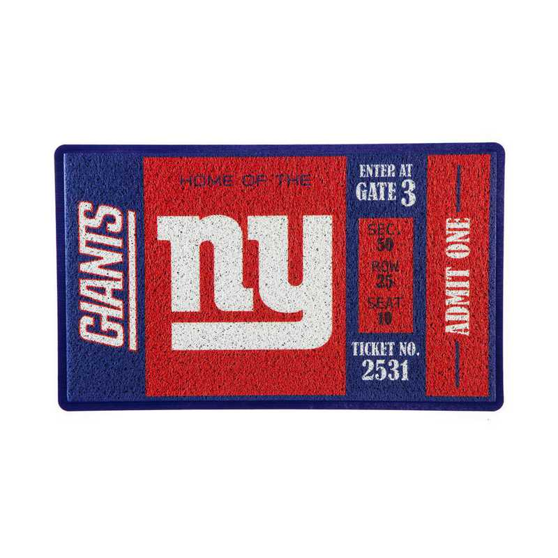 41LM3820: EG Turf Mat, New York Giants