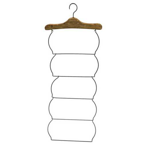 6M435: EG Wood and Metal Hanging Rack