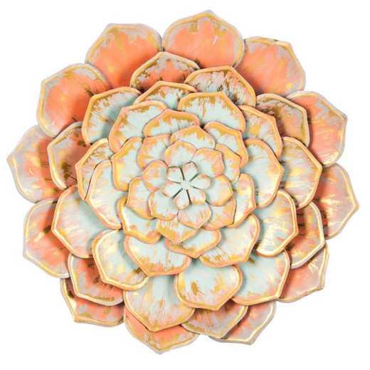 6AWD039: EG Multiple Layer Metal Wall Flower