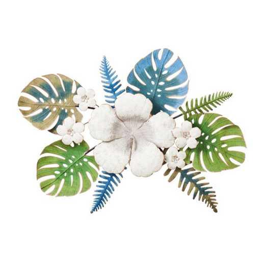6AWD144: EG Metal 3D Floral Wall Decor