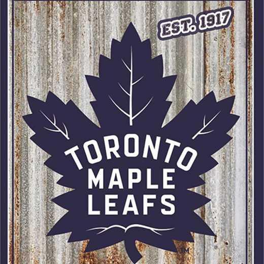 6M4376B: EG Toronto Maple Leafs Corrugated Metal Wall Art