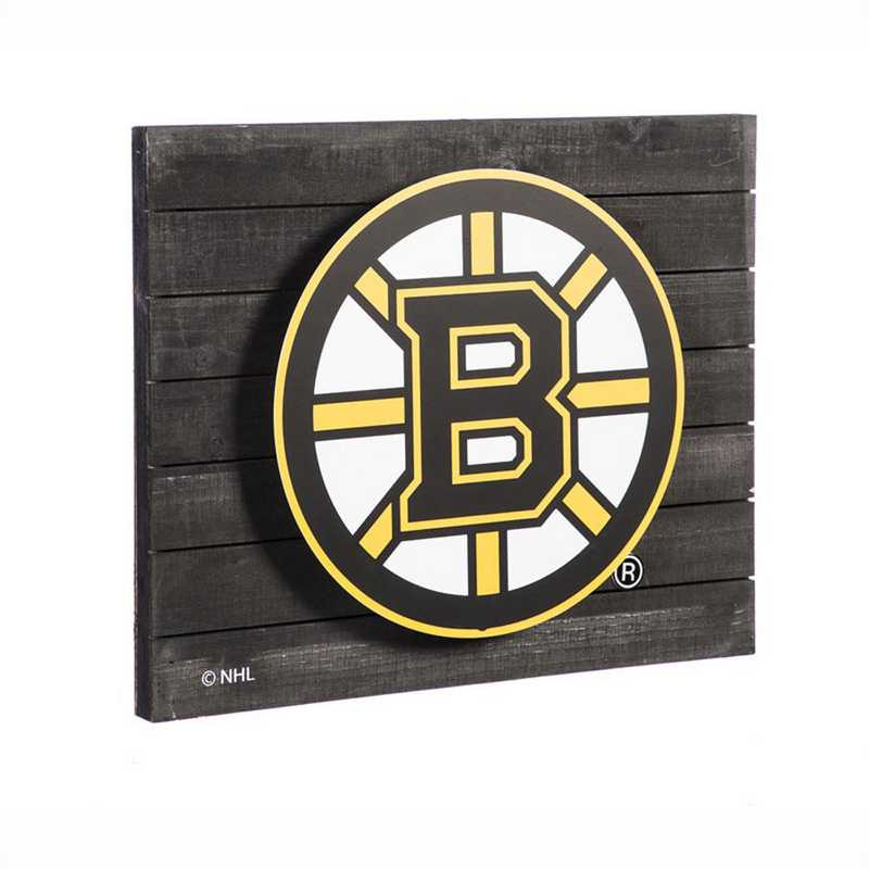6WLT4351: EG Lit Wall Decor, Boston Bruins