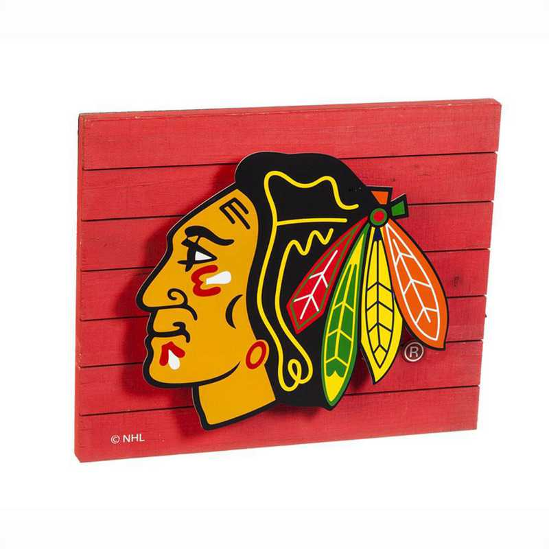 6WLT4355: EG Lit Wall Décor, Chicago Blackhawks