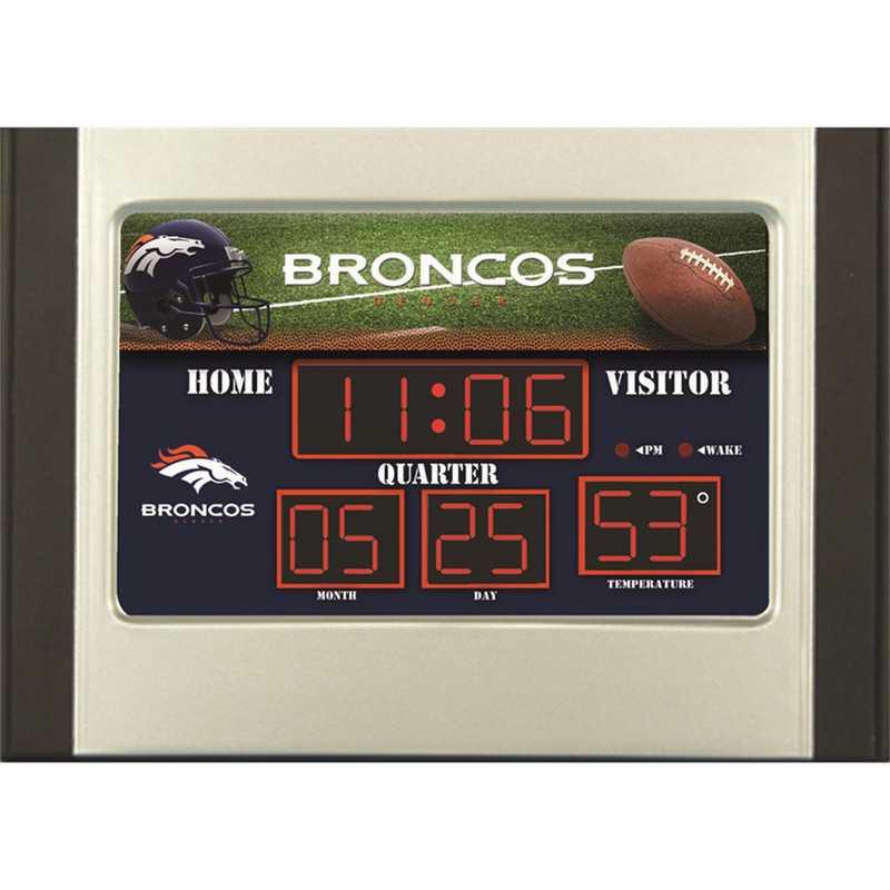 0128800B: EG SB 6.5x9 Desk Clock, Denver Broncos