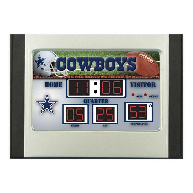 0128801B: EG SB 6.5x9 Desk Clock, Dallas Cowboys