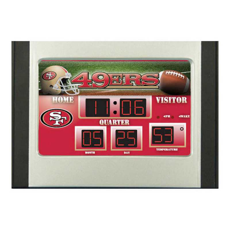 0128804B: EG SB 6.5x9 Desk Clock - San Francisco 49ers