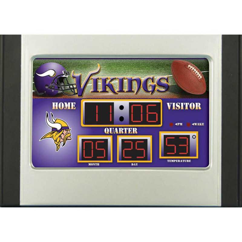 0128805B: EG SB 6.5x9 Desk Clock - Minnesota Vikings