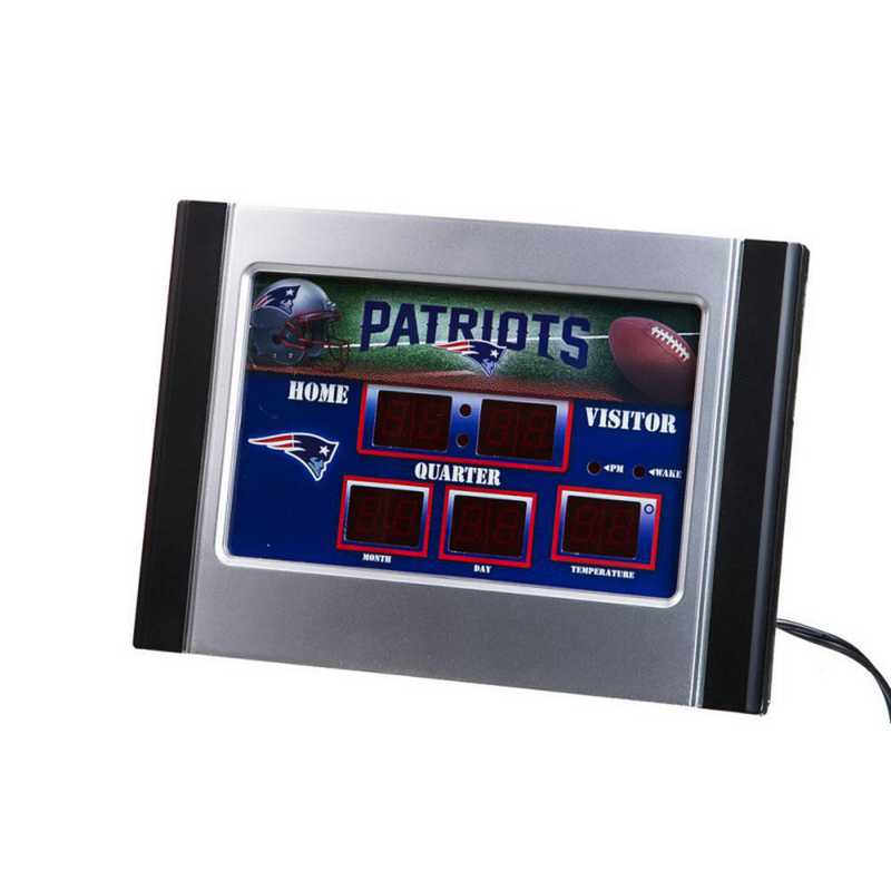 0128812B: EG SB 6.5x9 Desk Clock, New England Patriots