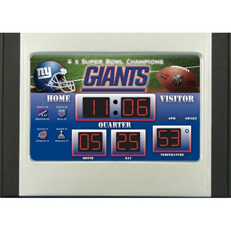 0128813: EG SB 6.5x9 Desk Clock, New York Giants