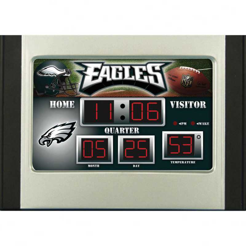 0128822: EG SB 6.5x9 Desk Clock, Philidephia Eagles