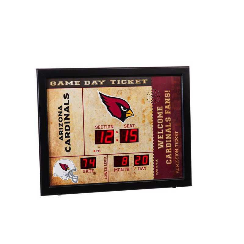 7CL3800: EG BT SB Wall Clock, Arizona Cardinals