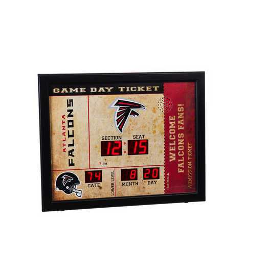7CL3801: EG BT SB Wall Clock, Atlanta Falcons