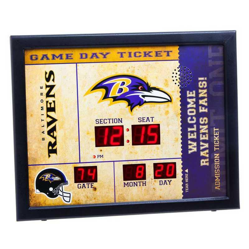 7CL3802: EG BT SB Wall Clock, Baltimore Ravens