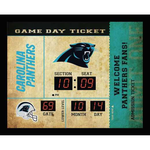 7CL3804: EG BT SB Wall Clock, Carolina Panthers