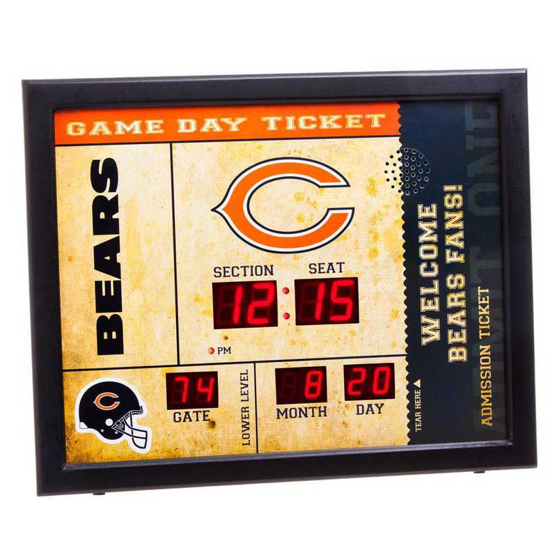 7CL3805: EG BT SB Wall Clock, Chicago Bears