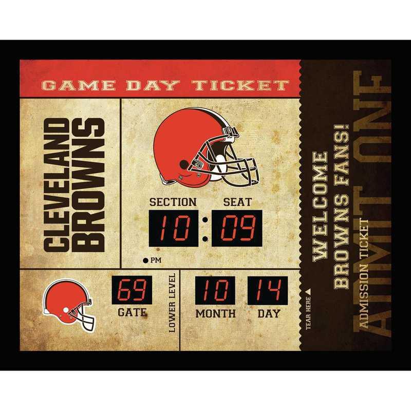 7CL3807: EG BT SB Wall Clock, Cleveland Browns