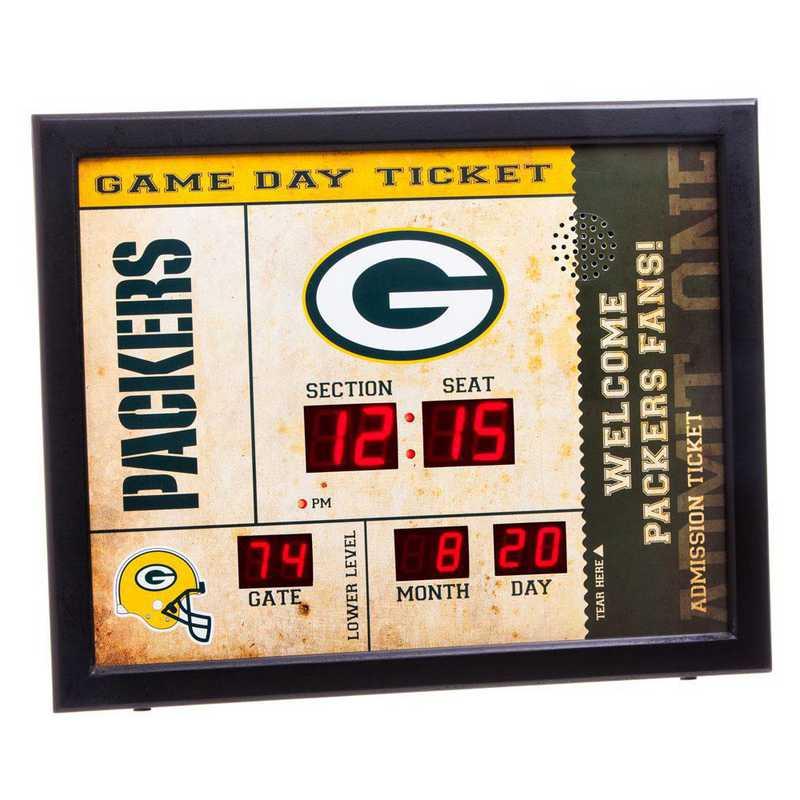 7CL3811: EG BT SB Wall Clock, Green Bay Packers