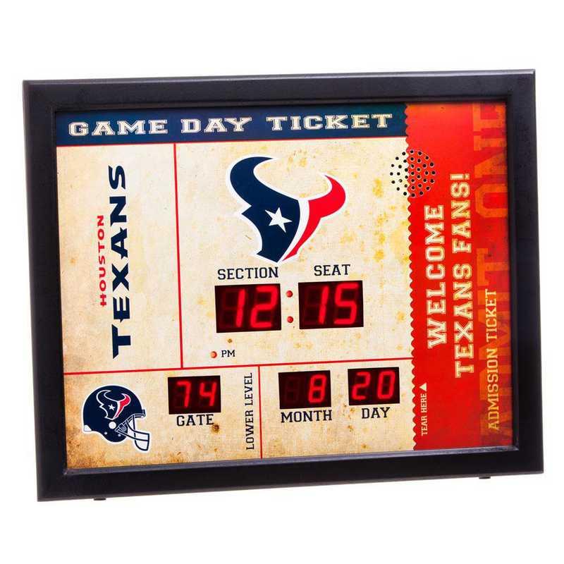 7CL3812: EG BT SB Wall Clock, Houston Texans