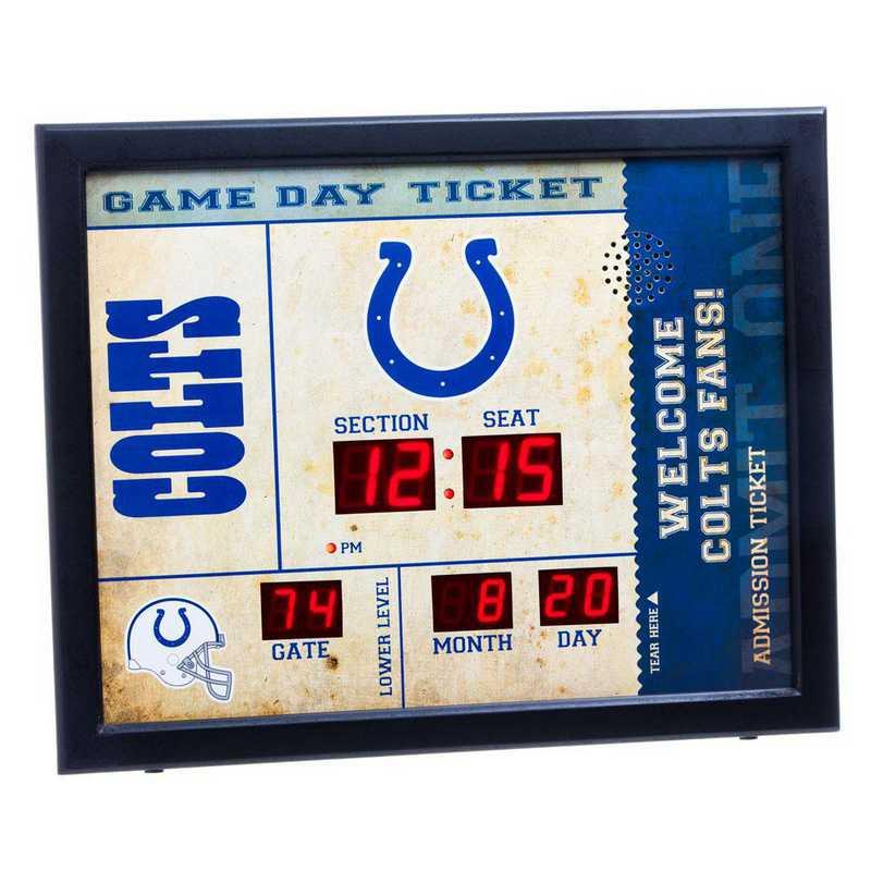 7CL3813: EG BT SB Wall Clock, Indianapolis Colts