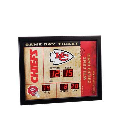 7CL3815: EG BT SB Wall Clock, Kansas City Chiefs